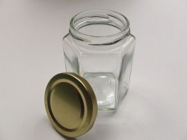 Hexagonal Glass Jar