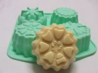 Assorted Flower Silicone Soap Mould - 4 cavity