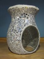 Mosaic Oil Burner - Crackle Mirror