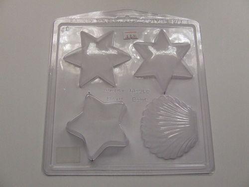 Shell & Star Bath Bomb /Soap Mould